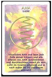 Beispiel Ana, Licht Engels-Kartenset